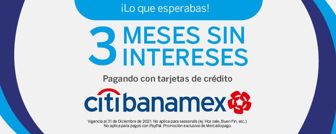 Promocion 3 MSI con Citibanamex. Promoción exclusiva de Mercadopago.