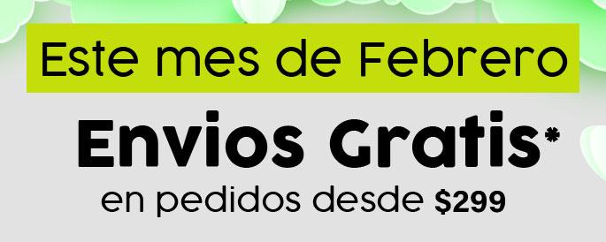 Envios gratis Febrero
