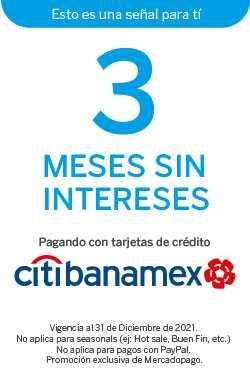 3 Meses sin intereses con Citibanamex. Promoción exclusiva de Mercadopago.